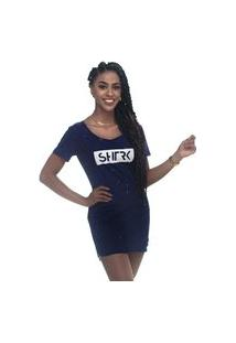Vestido Shatark Flakes - Azul Marinho
