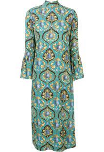 La Doublej Vestido Estampado - Azul