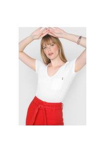 Camiseta Dimy Lisa Bolso Branca