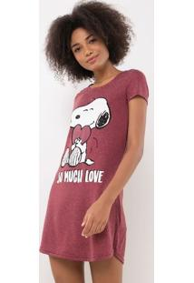 Camisola Manga Curta Snoopy Em Material Sustetável