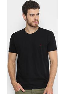 Camiseta Ellus Cotton Fine Asa Classic Masculina - Masculino-Preto