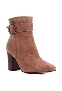 Bota Cano Curto Shoestock Salto Alto Argola Feminina