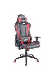 Cadeira Gamer Husky Gaming Storm, Preto E Vermelho, Com Almofadas, Reclinável, Descanso De Braço 2D - Hst-Br