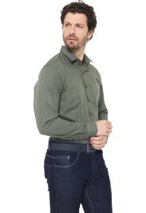 Camisa Dudalina Reta Xadrez Verde