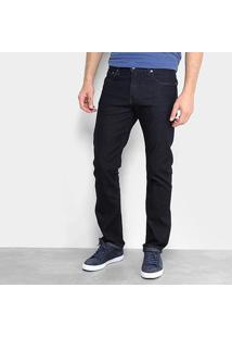 Calça Jeans Calvin Klein Reta Masculina - Masculino-Marinho