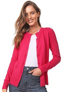 Cardigan Gap Tricot Liso Pink