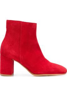 P.A.R.O.S.H. Ankle Boot De Couro - Vermelho