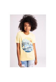 Camiseta Bossa Brasil High Tides Amarela