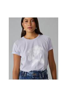 Amaro Feminino T-Shirt Mixed Happy Feelings, Lilás