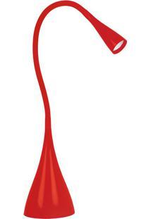 Luminária De Mesa Taschibra Tlm07 Led Fit Articulável Vermelha
