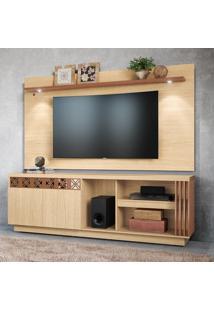 Rack Com Painel Para Tv Até 65 Pol Colibri Astúrias 2 Portas