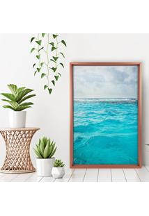Quadro Love Decor Com Moldura Chanfrada Ocean Rose Metalizado - Grande