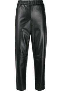 Calvin Klein Calça Slim Cropped - Preto