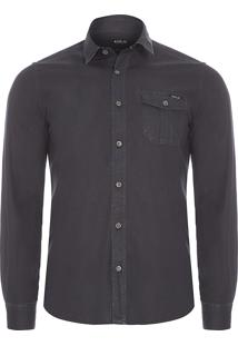 Camisa Masculina Destroyed - Preto