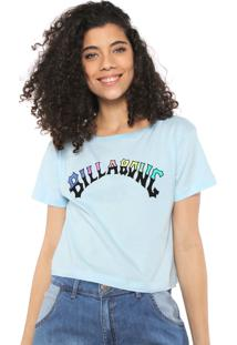 Camiseta Cropped Billabong Split Arc Azul