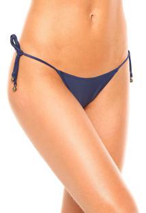 Calcinha Cia.Maritima String Liso Azul-Marinho