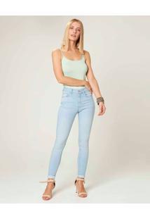 Calça Skinny Flex Jeans Feminina Malwee Azul Claro - 48
