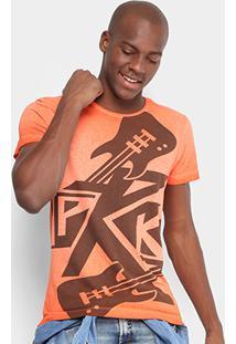 Camiseta Opera Rock Estampada Masculina - Masculino-Laranja