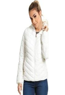 Jaqueta Diferenciada Proteção Térmica Vlcs Feminina - Feminino-Branco