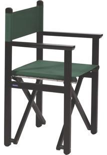 Cadeira Diretor Dobrável Tramontina 12666084 Tabaco E Verde