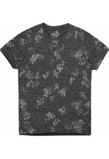Camiseta Masculina Mescla Floral Mescla Grafite