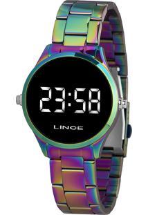 Relógio Digital Lince Feminino - Mdt4617L Bxqx Multicor