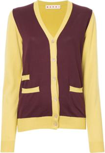 Marni Cardigan Color Block - Amarelo