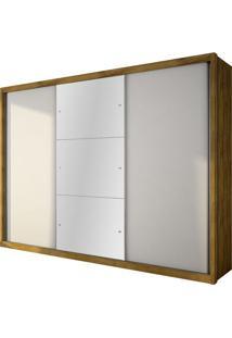 Guarda Roupa Paradizzo Gold 3 Portas Com Espelho Freijó / Branco