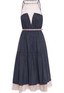 Vestido Secret Garden - Azul
