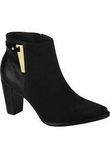 Ankle Boots Feminina Beira Rio Detalhe Metalizado
