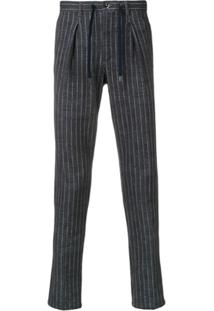 Circolo 1901 Striped Tailored Drawstring Trousers - Azul