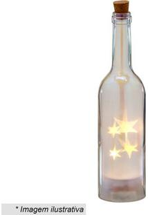 Garrafa Decorativa Com Luz- Incolor- 28,5Xã˜7Cm- Mabruk
