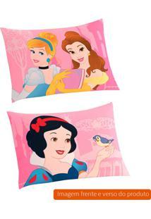 Fronha Infantil Princesas Algodão Rosa