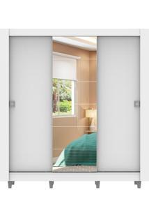 Guarda-Roupa Campos Branco Com Pés 3 Portas 1 Espelho Madesa