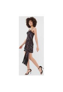 Vestido Lança Perfume Curto Amarração Preto