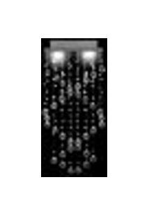 Lustre De Cristal Legítimo Kingyo 30X15X62Cm Para 2 Lâmpadas Dicroicas - Kingyo-30