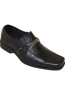 Sapato Social Fox Comfort Loafer - Masculino-Preto