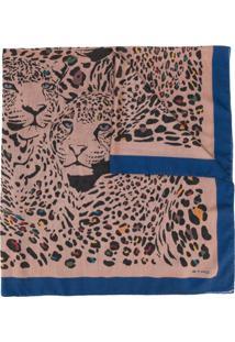 Etro Echarpe Com Estampa Animal Print - Neutro