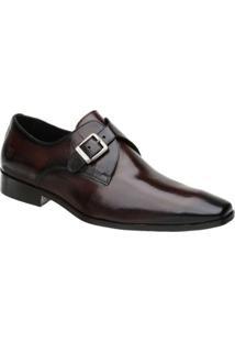 Sapato Social Couro Malbork Masculino - Masculino-Marrom
