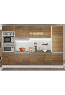 Cozinha Completa Madesa Olimpia 3 Gavetas 14 Portas (Sem Tampo E Pia) Branco - Branco - Dafiti