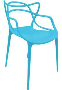 Cadeira Com Encosto E Braços Aviv Siena Móveis Azul