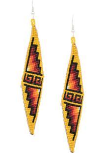 Jessie Western Beaded Earrings - Amarelo