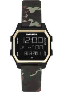 Relógio Digital Mormaii Luau Feminino - Feminino-Dourado