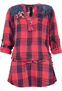 Camisa Desigual Vermelha