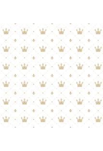 Papel De Parede Adesivo Infantil Coroa Dourada 2,70X0,57M