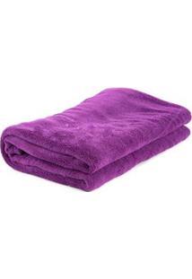 Cobertor Infantil Viagem Parahyba Em Microfibra Com 1 Peça - Violeta