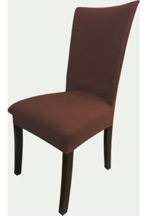 Capa Para Cadeira De Malha Kit 6 Unidades Tabaco S.T