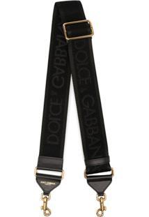 Dolce & Gabbana Alça Para Bolsa Com Aplicação De Logo - Preto