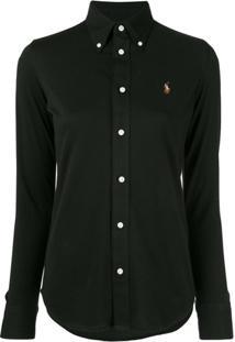 Polo Ralph Lauren Camisa Com Logo Bordado - Preto