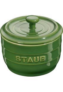 Porta Sal Cerâmica Verde Basil Staub